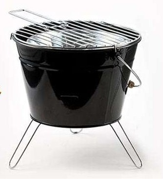 tolles Grill-Set, Metall - Reise-Grill -